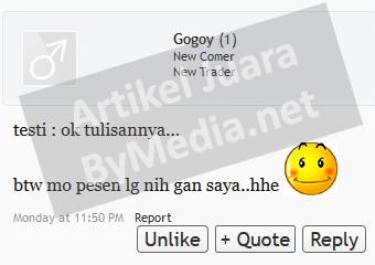 Testimoni Artikel Juara lapak Gogoy