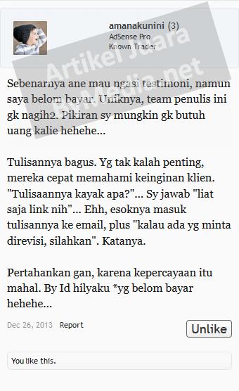 Testimoni Lapak Lama Keraton Artikel amanakunini