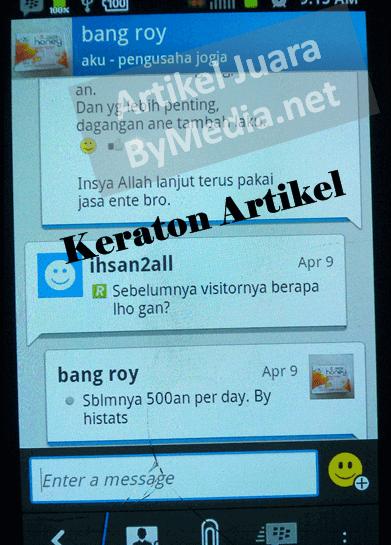Testimoni Lapak Lama Keraton Update Blog bang roy 2