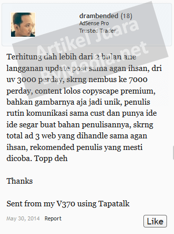 Testimoni Lapak Lama Keraton Update Blog drambended